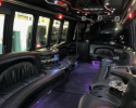 Our party bus gives you the ultimate luxury experience with plush, leather seating.